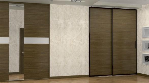 Дизайн трехкомнатной квартиры, г. Киев Коридор, встроенный шкаф.