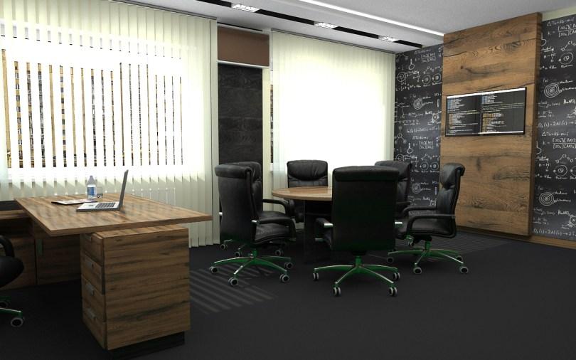 Дизайн интерьера кабинета для руководителя. г. Ирпень.