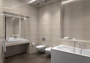 Дизайн ванной комнаты в трехкомнатной квартире, г. Киев. Плитка Fap Ceramiche