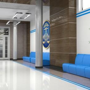Дизайн фойе факультета налоговой милиции при УДФСУ. 5