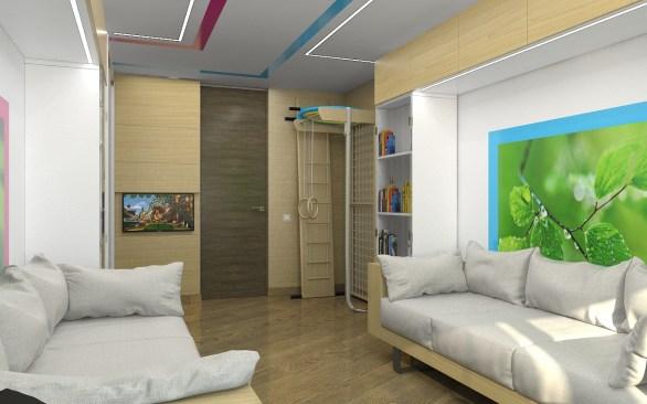 Дизайн детской комнаты Шведская стенка