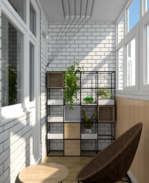 Дизайн интерьера. г. Киев. Балкон.4