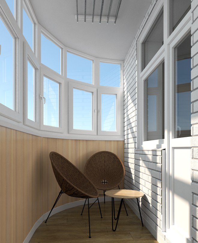 Дизайн интерьера. г. Киев. Балкон.5