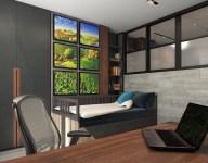 Комната для подростка. Дизайн в стиле LOFT, г. Кровать HEMNES из IKEA