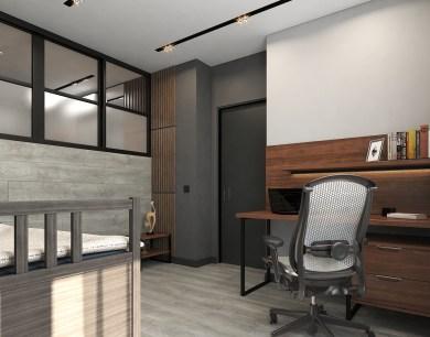 Комната для подростка. Дизайн в стиле LOFT, г. Киев 3