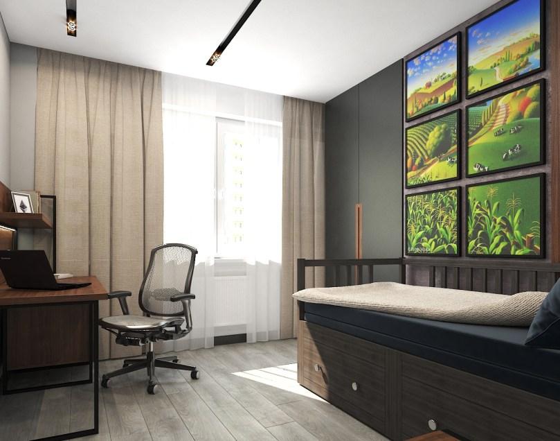 Комната для подростка. Дизайн в стиле LOFT, г. Киев 2