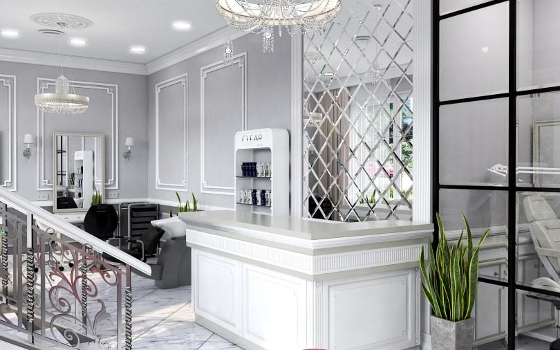 Дизайн интерьера салона красоты в классическом стиле