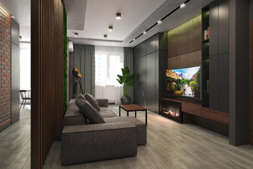 Дизайн гостиной в стиле LOFT