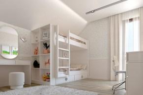 Дизайн интерьера детской комнаты в классическом стиле.
