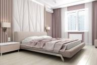 Дизайн интерьера спальни. Кровать Blanche ETERNA 207E