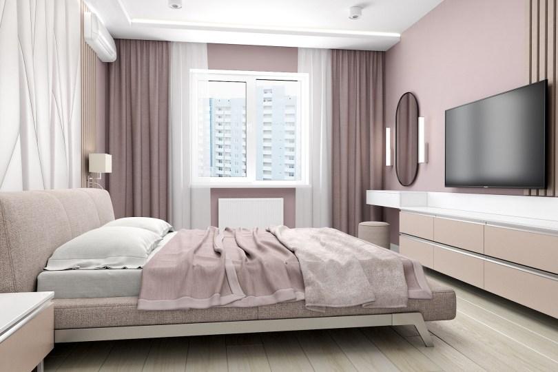 Дизайн интерьера спальной