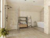 Большая душевая и мебель для ванной в стиле Loft