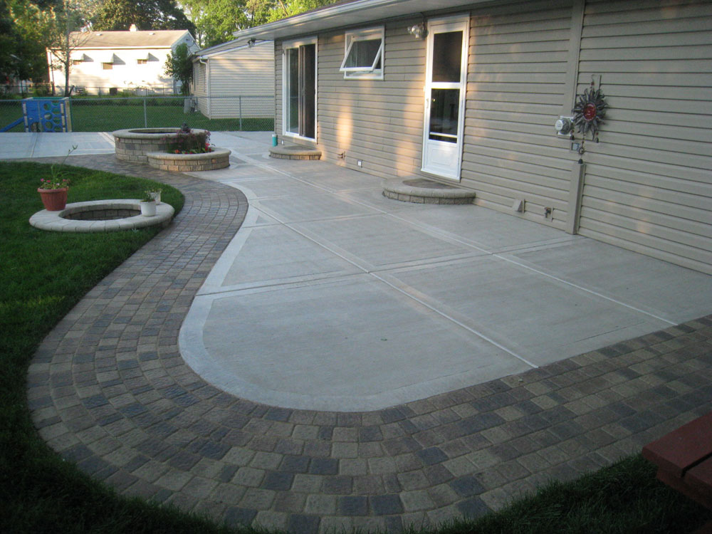 Modern Patio with Stamped Edges - Buchheit Construction on Add On Patio Ideas  id=72345