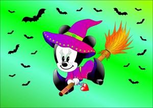 Micky-Mouse Hexe