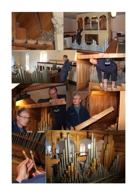 Orgelbilder Kollage der Abnahme