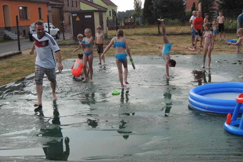 Kinderfest 2018 willkommene Abkühlung bei 30 Grad C