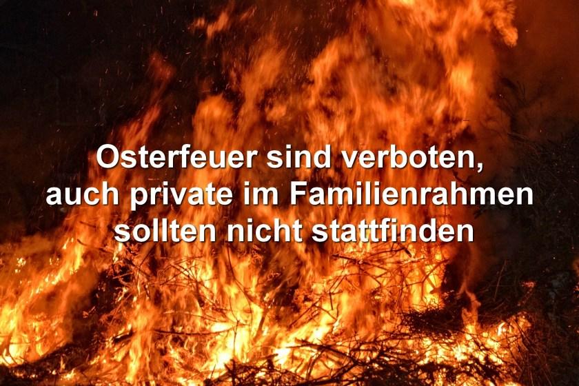 Osterfeuer sind verboten