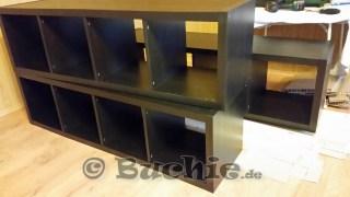 Bett selber bauen ikea regal  Ikea Hack - so wird aus Kallax Regalen ein Bett - Buchie.de