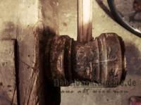 alte Kurbel der Spannbacken