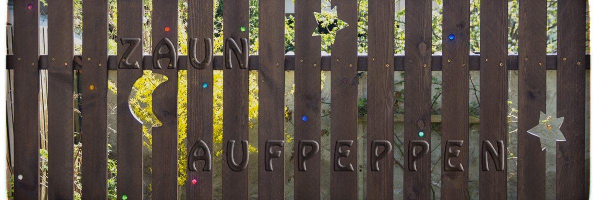 Glasperlen Zaun