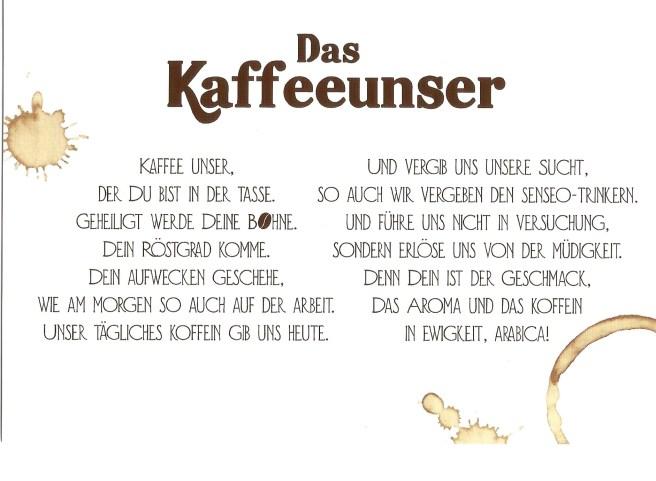 Karte Das Kaffeeunser