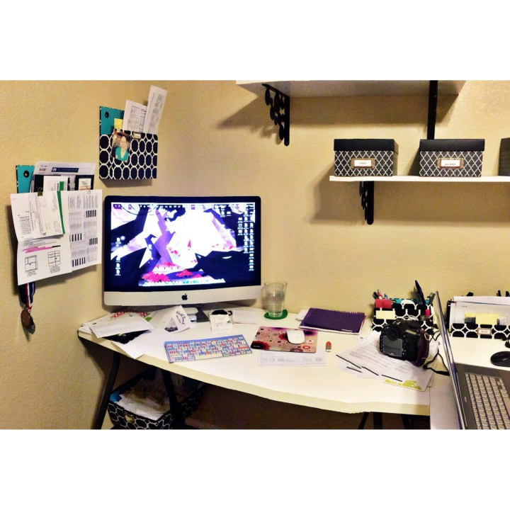September 3 :: p365 :: year 34 day 310 :: This is what happens when Lacey has down days, you can no longer see the desk. It makes me so crazy to work through mess, that I almost think the break isn't worth it.