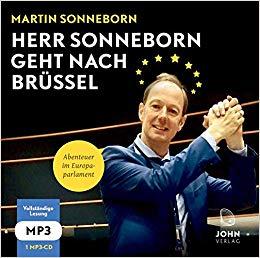 """Das Cover von """"Herr Sonneborn geht nach Brüssel"""" von Martin Sonneborn."""