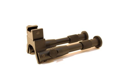 collapsed folding bipod side view