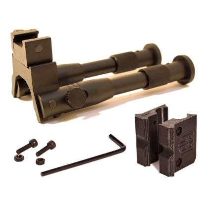 Folding Bipod and RRUBR adapter with hardware