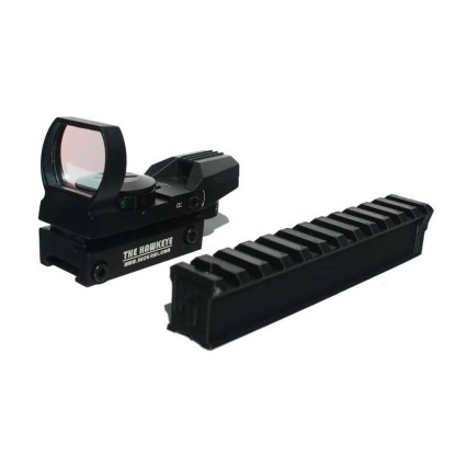 The little buck rail and Reflex sight together