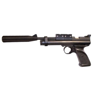 Crosman 2240 with scope mounts and silencer