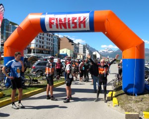 Finished at waterfront park in Ushuaia