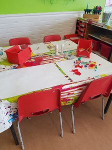 Our craft table