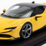 Mr Models Fe028b Scale 1 18 Ferrari Sf90 Stradale Hybrid 1000hp 2019 Giallo Modena Yellow Black
