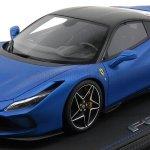Bbr Models P18171b3 Vet Scale 1 18 Ferrari F8 Tributo 2019 Matt Black Roof Con Vetrina With Showcase Blu Corsa Opaco Matt Blue