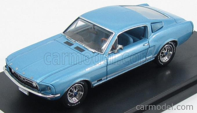 A number of cars have become legends with the help of hollywood, including the 1968 mustang fastback. Premium X Prd367j Scale 1 43 Ford Usa Mustang Gt Fastback 1968 Light Blue Met