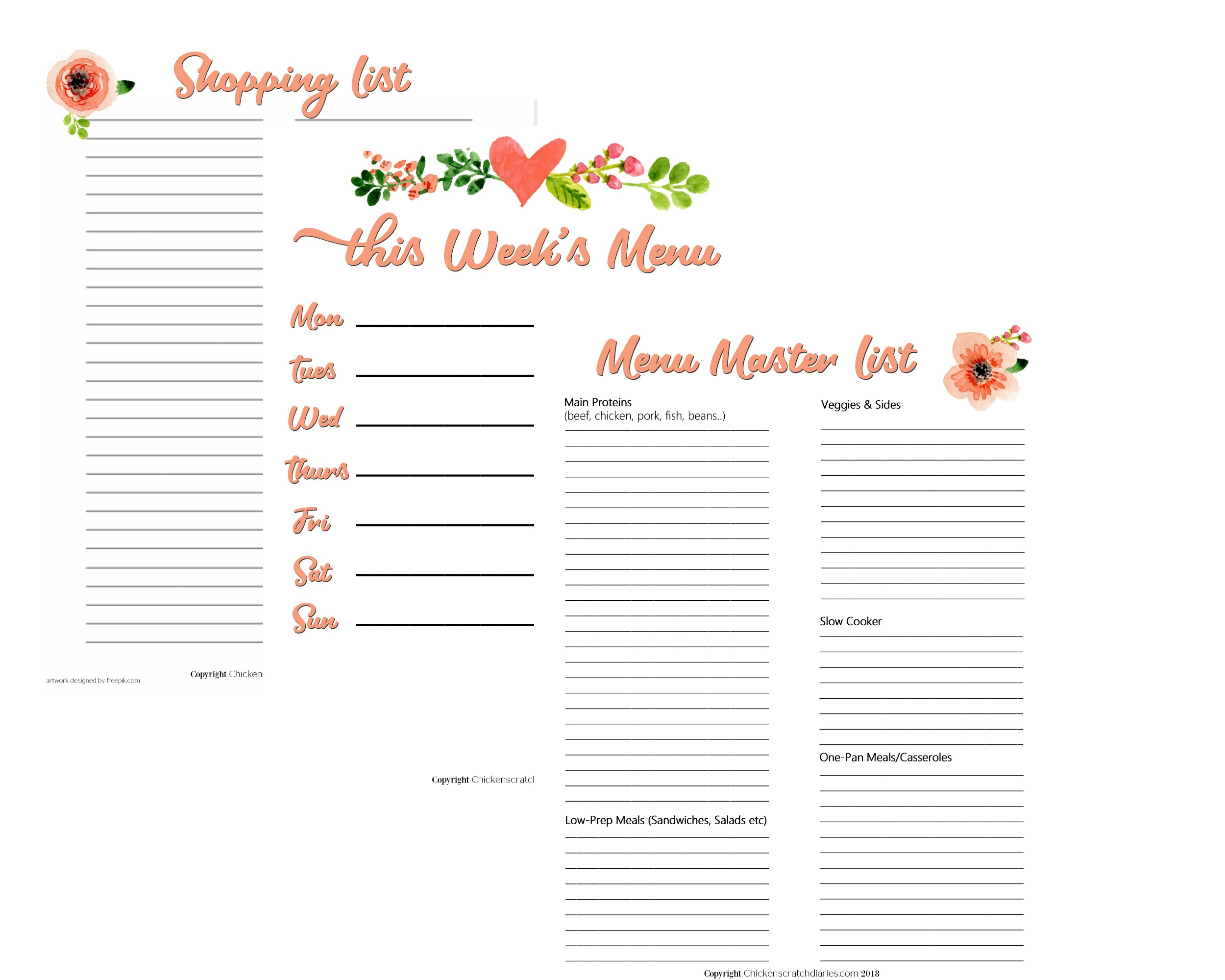 Free Printable Meal Planner Template That Are Sassy