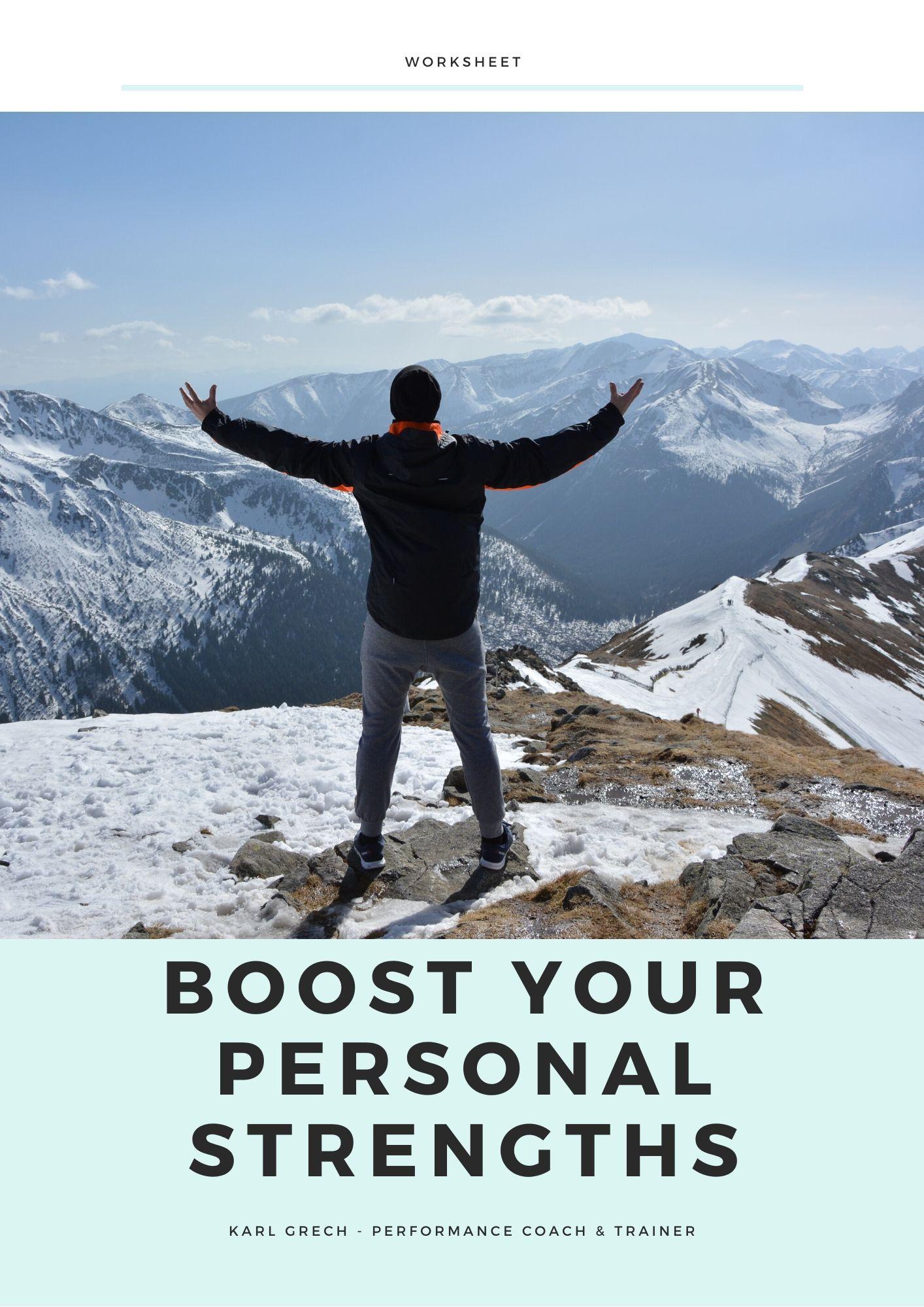 Boost Your Personal Strengths Freebie Worksheet