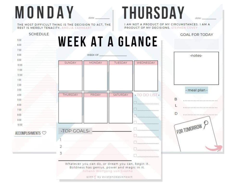 Freebie Planner Printables