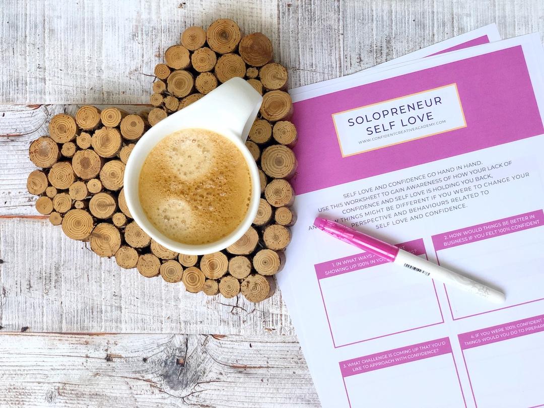 Solopreneur Self Love Worksheet