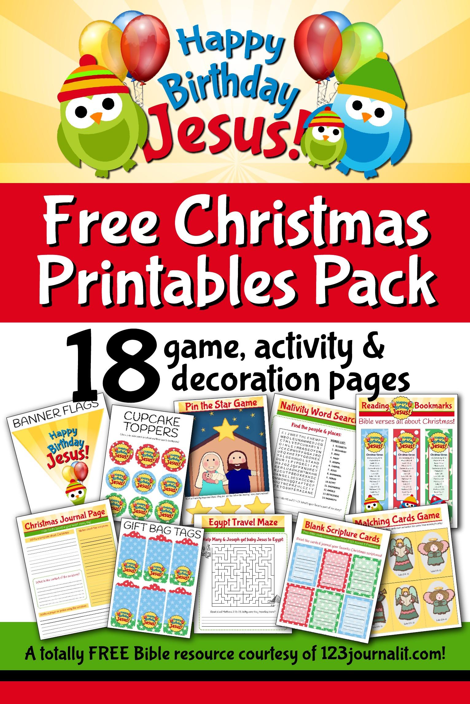 Free Happy Birthday Jesus Printable Party And Activity