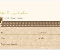 gifting teas, gift certificate to teatrition