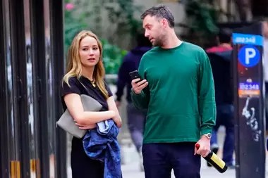 Jennifer Lawrence doesn't like to talk to you about strangers when out for a walk through the streets of New York