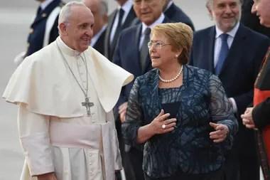 Francisco y Bachelet, en 2018