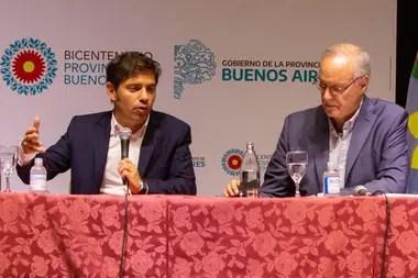 Kicillof y su ministro de Salud, Daniel Gollán