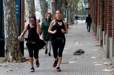 Los runners volvieron a la actividad en la Ciudad