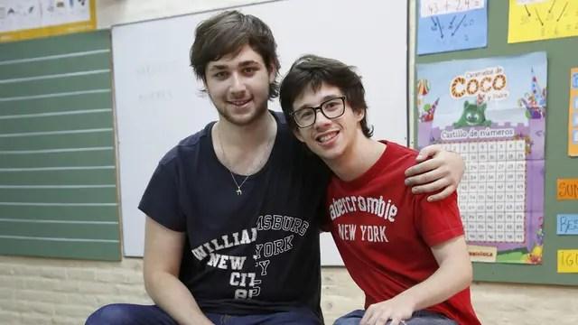 Tomer Usach (izq.) y Pablo Ingberg fueron compañeros en el colegio Arlene Fern