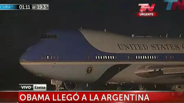 Barack Obama llegó a la Argentina