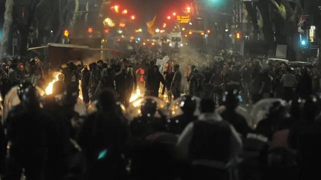 Incidentes en Plaza de Mayo