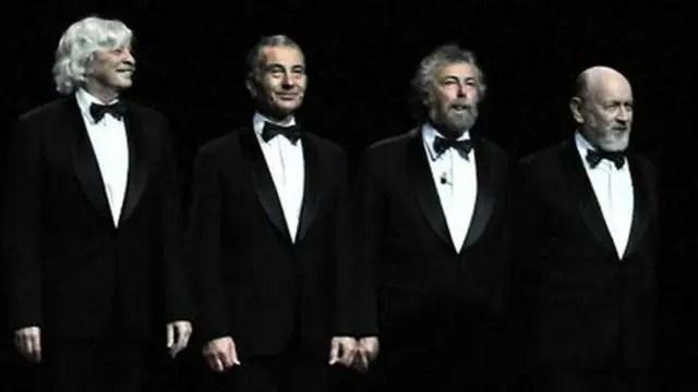 Noche de gala de Les Luthiers en la Ciudad de Buenos Aires, a metros del Teatro Colón